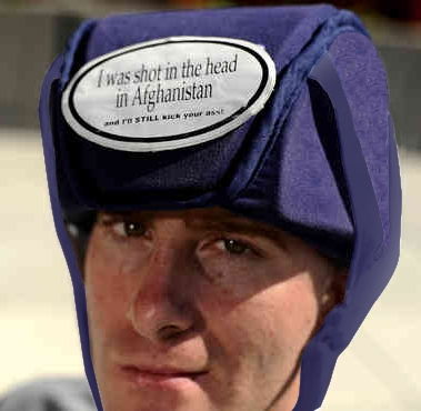 Afghanistan Vet Protects His Head with Plum's® ProtectaCap+Plus® Post Surgery Helmet